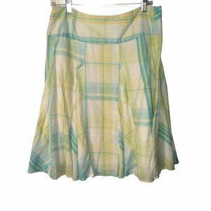 3/$21 St. John's Bay Plaid Skirt
